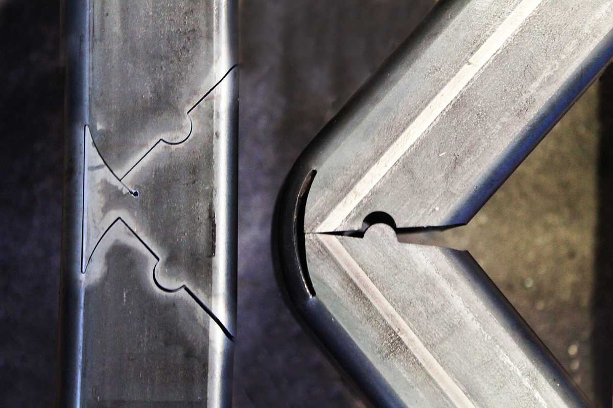 Laser pre-cutting support for cut/bend processing