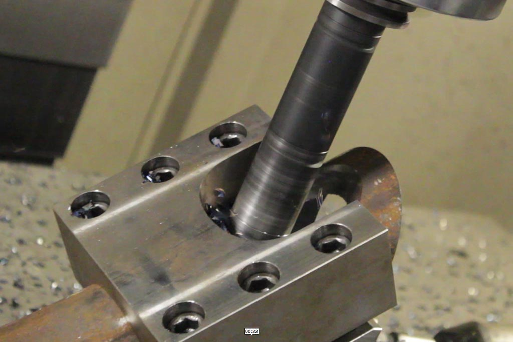 Milling of a stainless steel tube