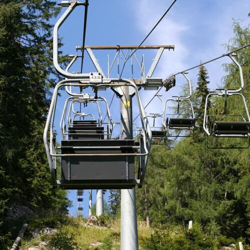A ropeway in the montains